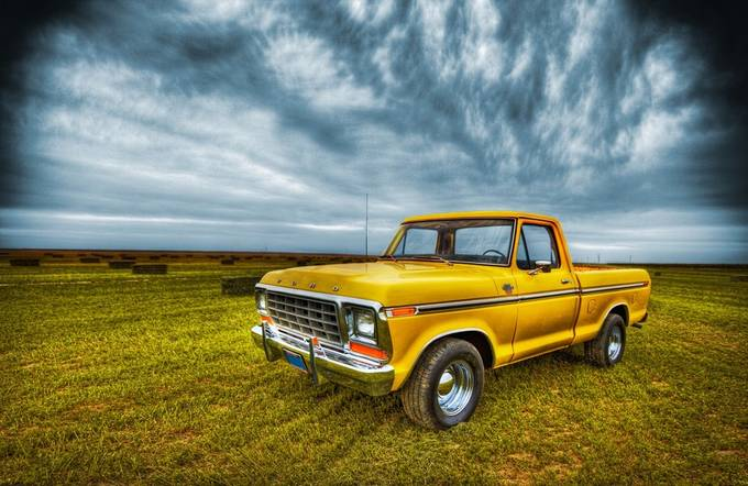 Yellow Truck by Julieweiss - Lost In The Field Photo Contest