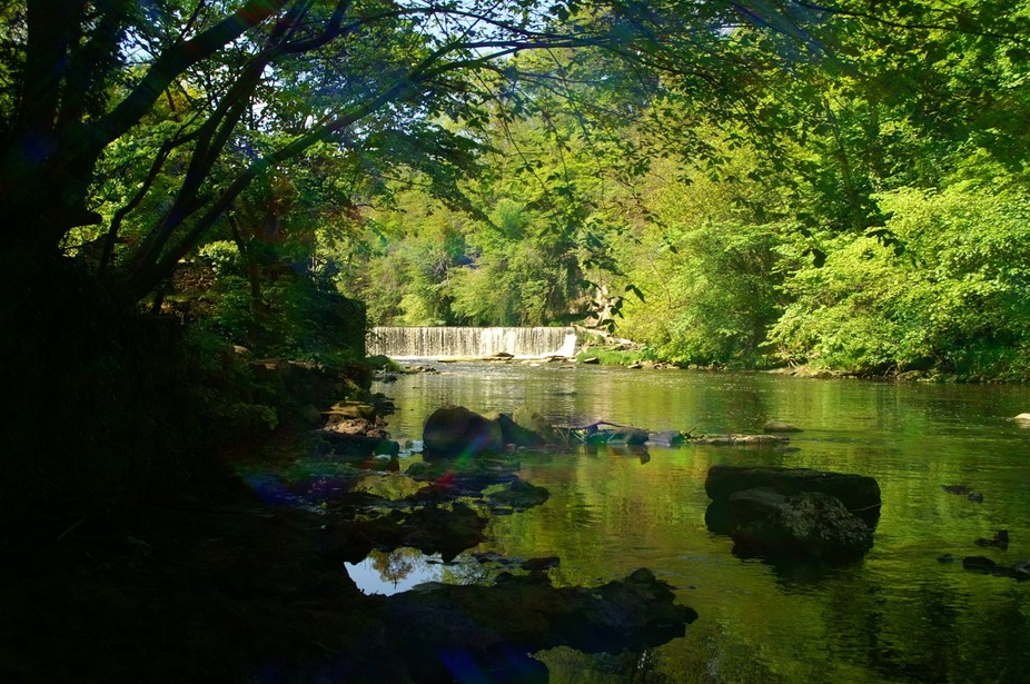 This shot og the River Almond\'s waterfall was taken from the exact spot where I was found by the ...