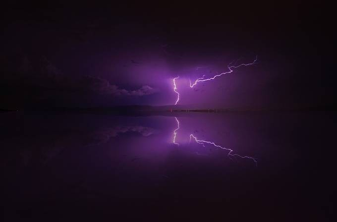 Lightning Reflection 2 by petefreund - Shades Of Purple Project
