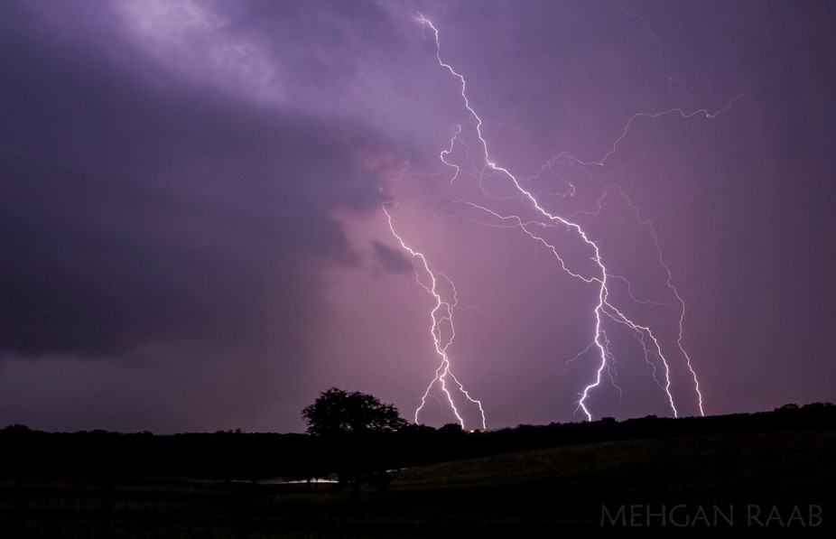 This is a two image stack from a storm on October 1st. I took it looking toward Union, Missouri f...