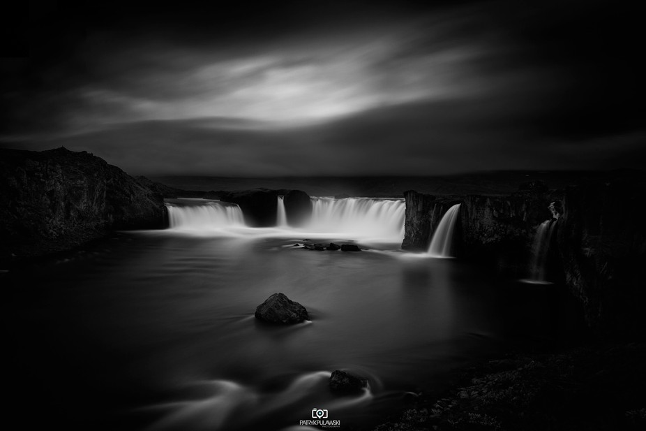 "Godafoss also known as waterfall of gods, Iceland, part of my ""between the darkness and the ..."