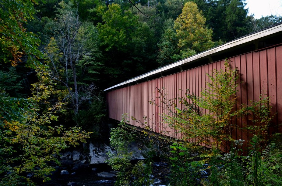 covered bridge at McConnell\'s Mill