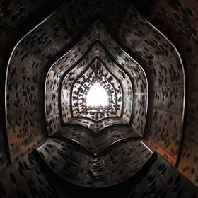 "once an old ship ""Wawona"" was demolished and repurposed to make this sky tunnel.The  shot was taken looking directly straight up with g..."
