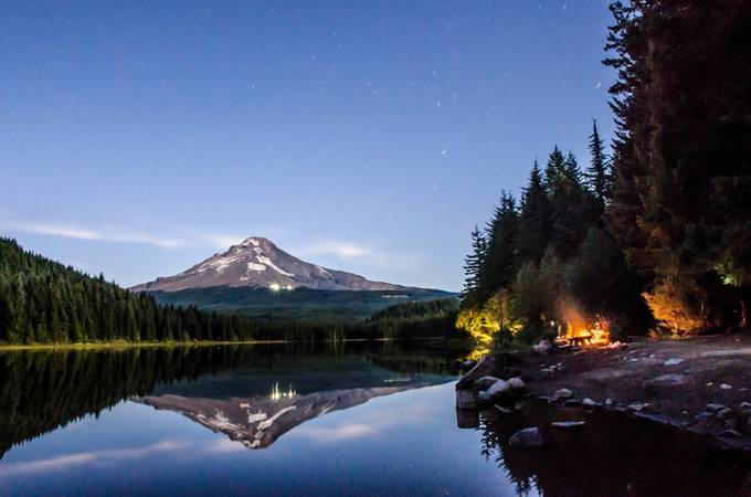 Mt Hood and Trilliam Lake-40 by JosephClark - Night Wonders Photo Contest