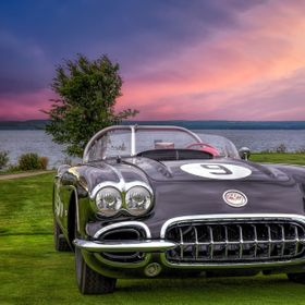 1962 Corvette at the Concours d'Elegamce at Cobble Beach at Owen Sound, Ontario.  https://crated.com/PaulMurphy