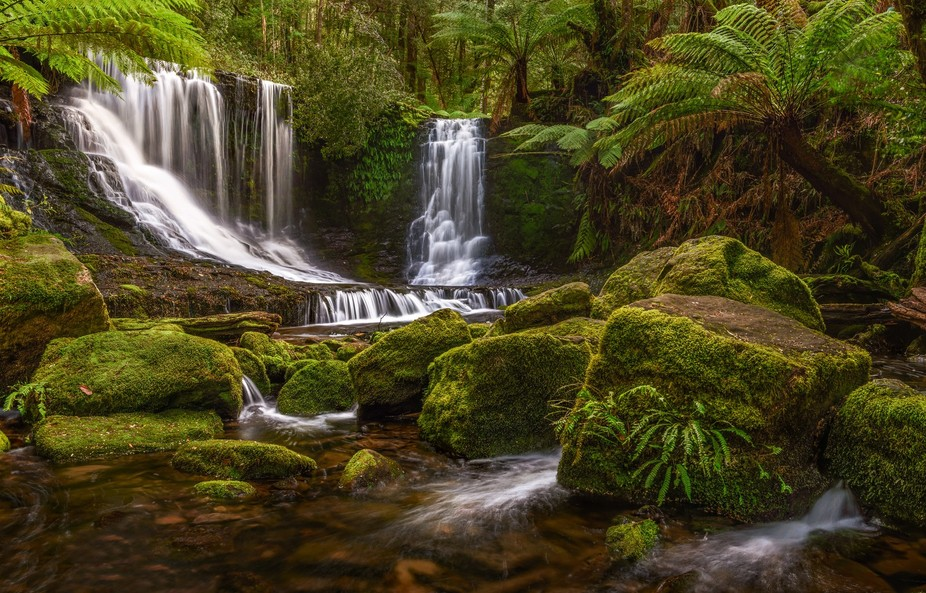 Horseshoe Falls in Mt Field National Park, Tasmania, Australia