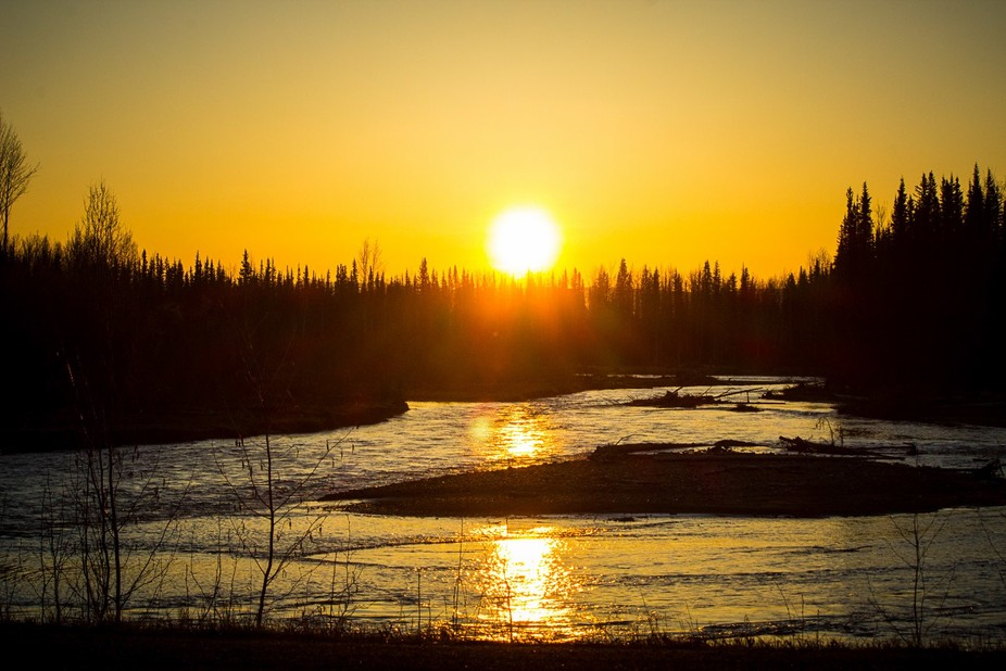the sun rising in the morning mist as i left Dawson City reminded me that each day is different a...