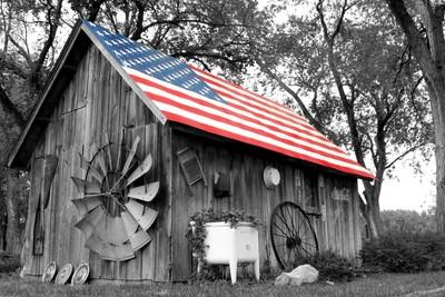 American Flag Milk House
