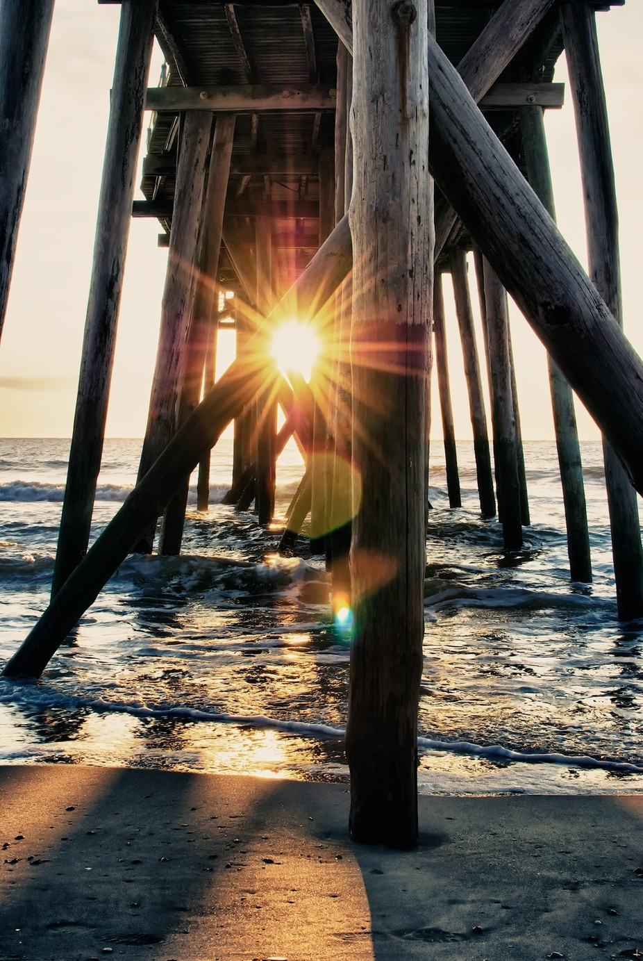 peeking through by mags549 - The View Under The Pier Photo Contest