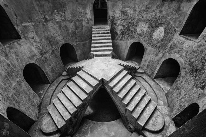 Underground Mosque by rahjuan - Black And White Architecture Photo Contest