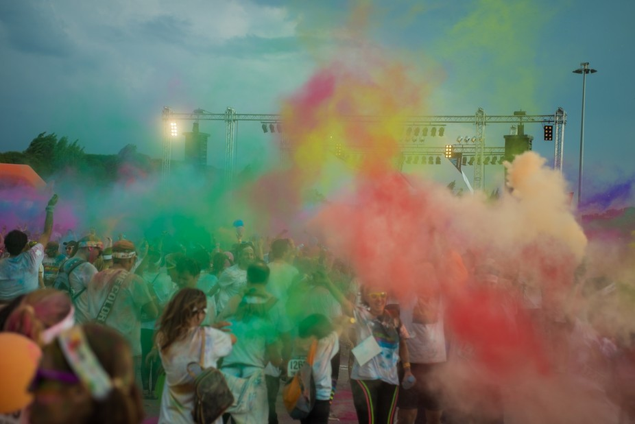 the end of The Color Run Porto 2014, an explosion of color, happyness and fun