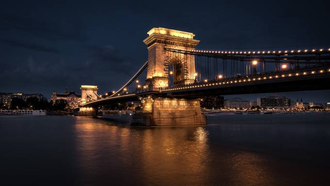 Budapest Chain Bridge by Cashman
