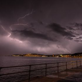 a elecctric storm in north wales