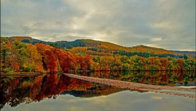 Autumn in Pitlochry, Scotland