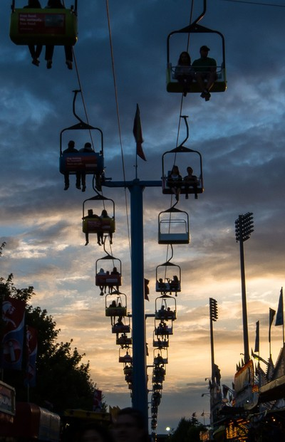 Sunset at the CNE
