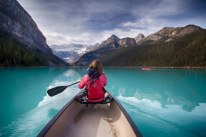Lake Louise Canoe by brendanvanson - Adventure Bound Photo Contest