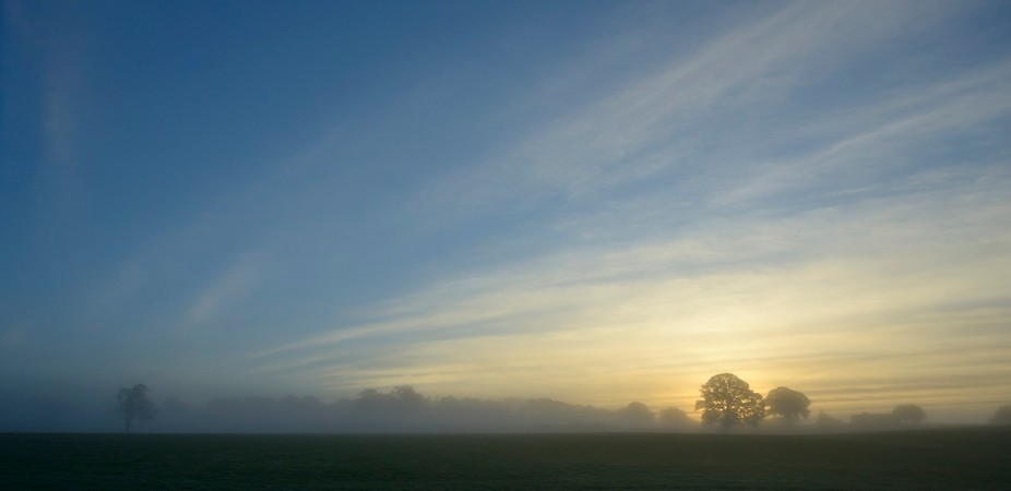 Its a bit foggy this morning in the low lands.  Headed for the hills to get above it and to see t...