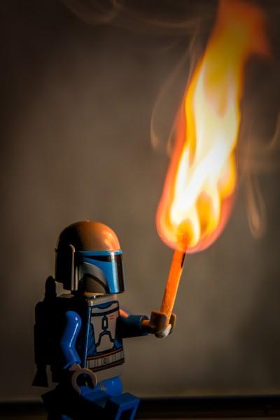 Lego Jango Fett with torch
