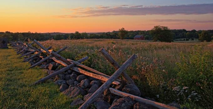 Early Morning on Cemetery Ridge by MGriffithsPhotography - Rails and Fences Photo Contest