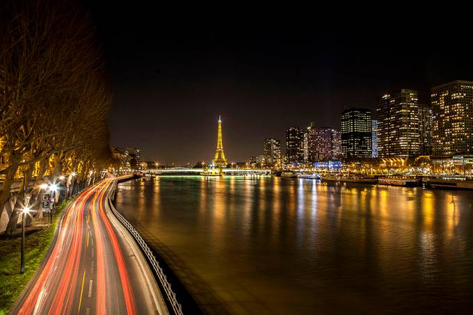 paris by night by Eddy22 - Long Exposure Views Photo Contest