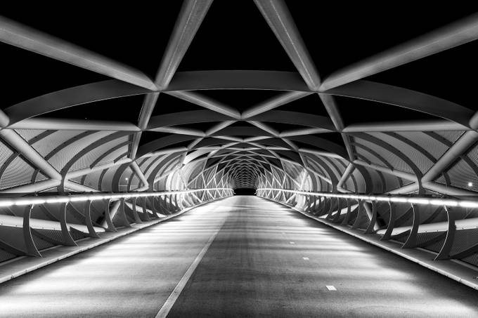 Rhoon Walking Bridge 1 by Sebastiaan - Depth In Black And White Photo Contest