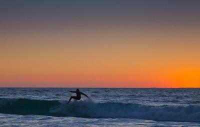 Cottesloe Surfer at Sunset