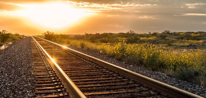 Golden Tracks by Brandephoto - Experimental Overexposure Photo Contest