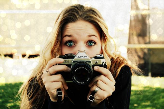 Old School Canon Selfie by Meghanshaw - Letters And Words Photo Contest