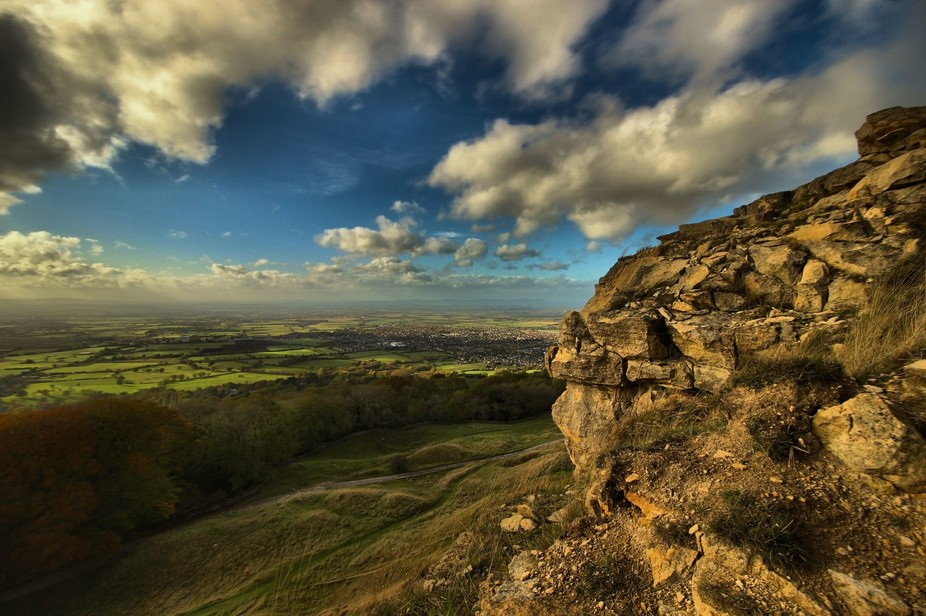 Cleeve Hill, near Cheltenham in the UK  19th October 2014