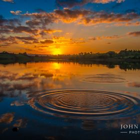 Sunset at Guladoo lake, Carrigallen, Co.Leitrim, Ireland.