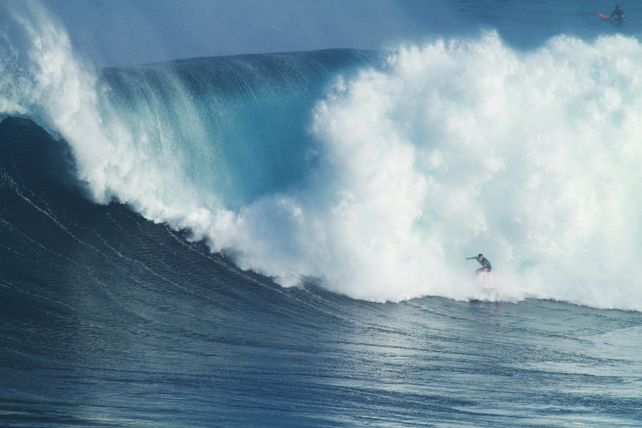 Surfing Jaws, Maui, Hawaii