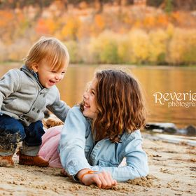 This was such a sweet moment! Just a minute before this girl's 3 year old brother had made her cry and her baby brother was trying to help her fe...