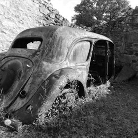 This car is in a small village in France.Ora Dor st Glen . Taken over by the Nazi the whole village was massacred ,