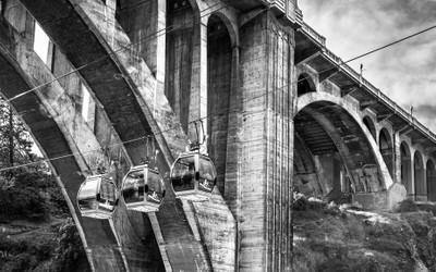 Gondolas Under the Bridge