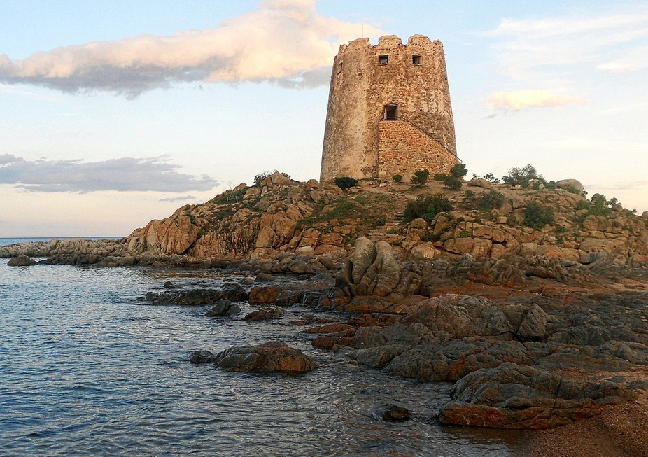 The tower of Bari Sardo, Ogliastra, Sardinia