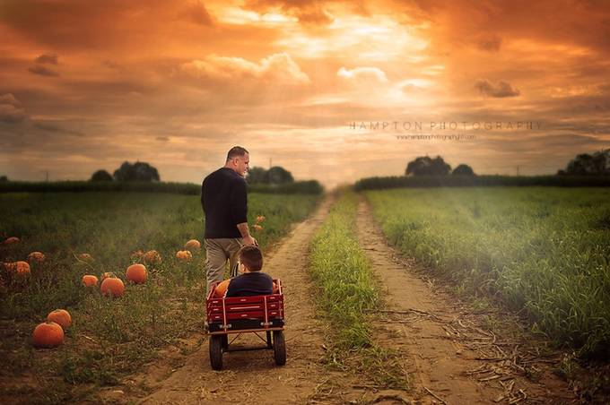 Pumpkin picking with Dad by HamptonPhotography - Take A Stroll Photo Contest