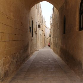 A street in the silent city of Mdina - Malta