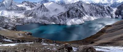Alakol lake, Tien-Shan mountains