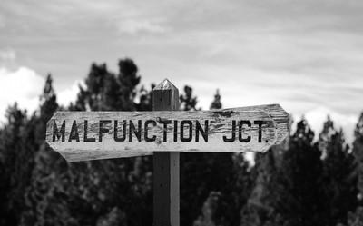 Malfunctioning sign post