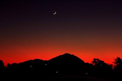 Sunset behind Camelback