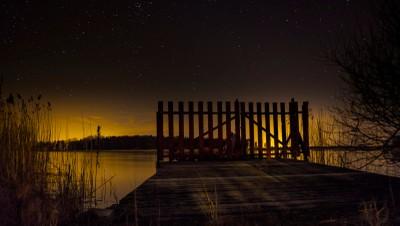 Gate, stars & sunset