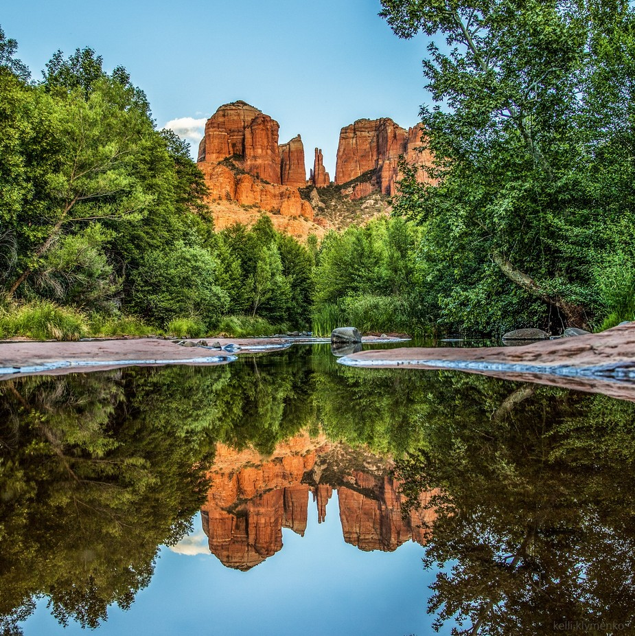 Cathedral Rock Reflection by kelliklymenko - Around the World Photo Contest By Discovery