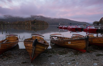 Windermere Boats at Dawn