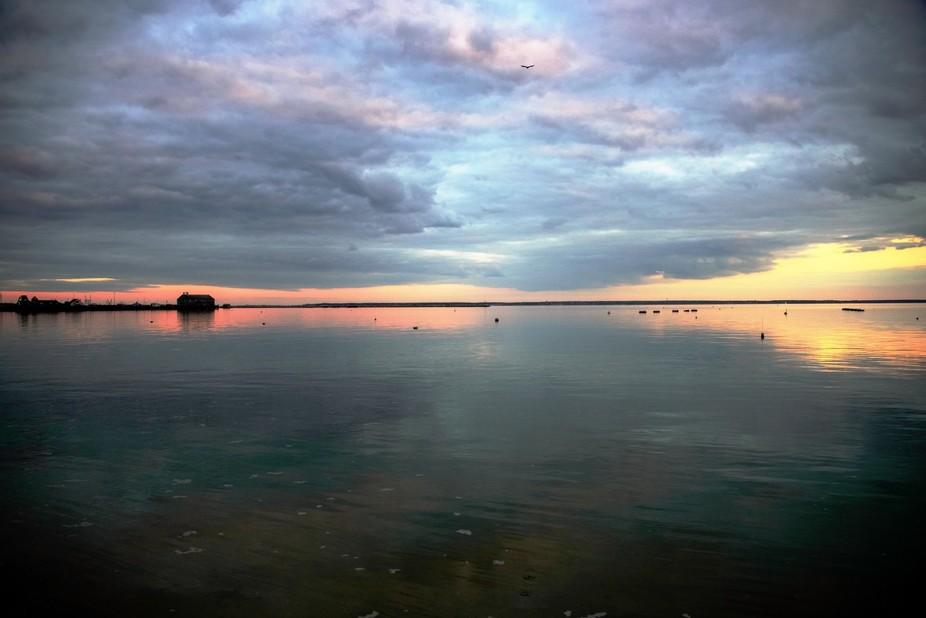 Evening Sky Over Provincetown Harbor, October 2014.