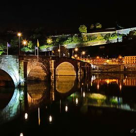 Along the Meuse River at night (Namur - Belgium)