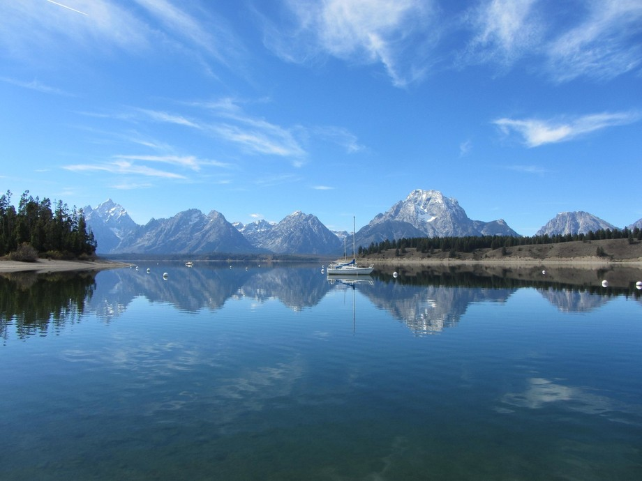 Taken from Yellowstone National Park, the Great Tetons is in the picture on the far left. This da...