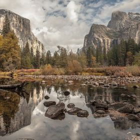 A 3 photo Panorama; Yosemite National Park