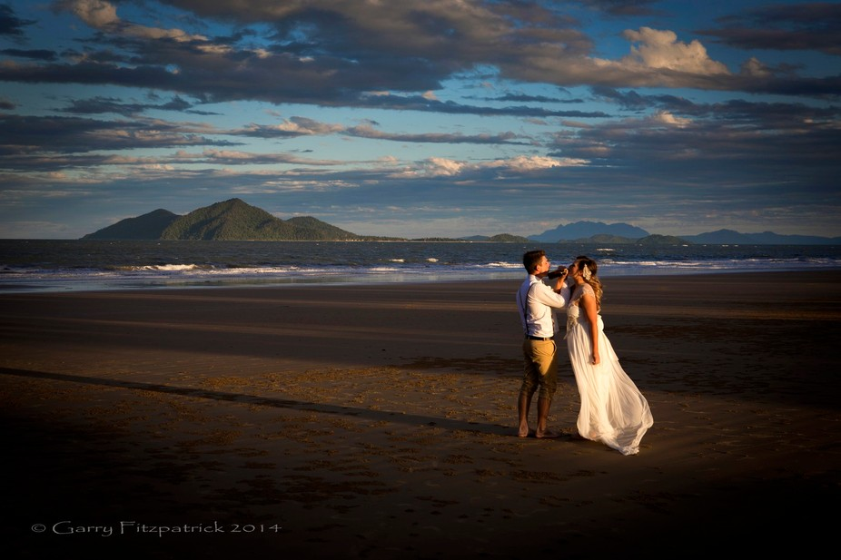 My Great-Niece\'s Wedding at Mission Beach in Queensland with Dunk Island in the background.  The ...