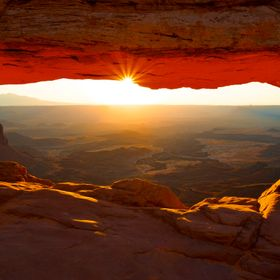 Mesa Arch Sunrise @ Canyonlands National Park, Utah.  Cozy on up and plant your tripod...you will not be alone.  Truly a spectacle to witness in ...