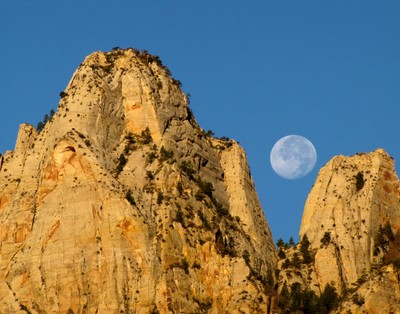 Zion Full Moon Rise